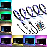 IREGRO LED TV Retroilluminazione 2M 60 LED, Multi Color Luce Striscia di LED RGB di Illuminazione per TV USB Powered TV Retroilluminazione, Home Theater Accent Kit con Telecomando