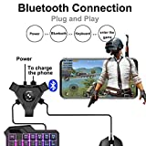 Alician Mouse PUBG Mobile Gamepad Controller Gaming Keyboard Mouse Converter per Android Phone a PC Adattatore Bluetooth