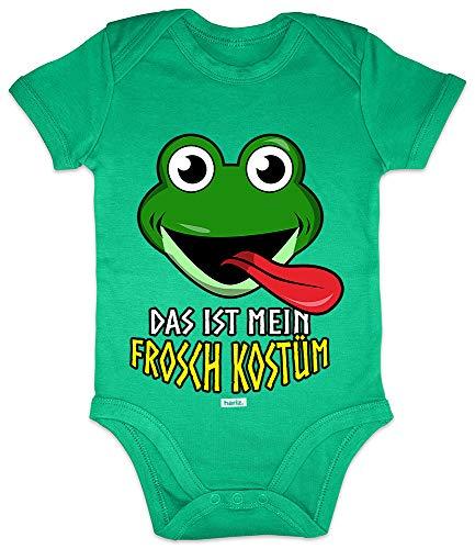 HARIZ Baby Body Kurzarm Das Ist Mein Frosch Kostüm Karneval Verkleidung Plus Geschenkkarten Frosch Quietsch Grün 3-6 Monate