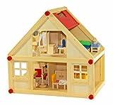 Freda Puppenhaus + Puppenhausmöbel 28 Teile + Familie + Hussen