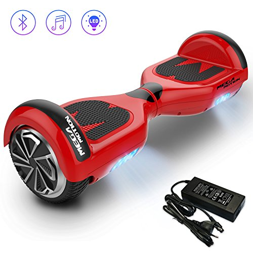 Mega Motion Self Balancing Scooter E1-6.5 inch Segway - Electric Skateboard - 700W Motor - [Built-in Bluetooth Speakers ] - LED - Self Balanced Electric Scooter with CE Safety System