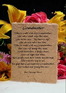 J'aime se promener avec ma grand-mère Poème personnalisé