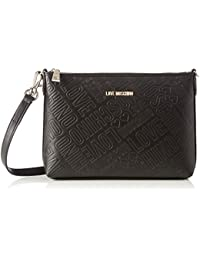 Love Moschino - Borsa Embossed Pu Nero, Shoppers y bolsos de hombro Mujer, Schwarz (Black), 18x28x6 cm (W x H D)