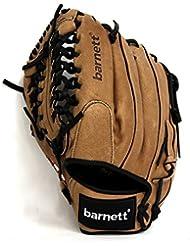 barnett SL-125 guante de béisbol cuero infield/outfield 12'5, beige (Para diestros)