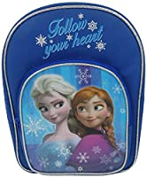Frozen Icy Glow Design Children's Fun Novelty Character Backpack Wtih Front Pocket - Blue