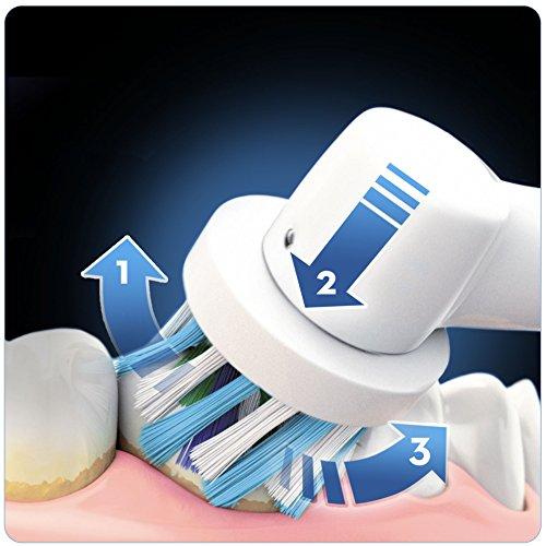 Oral B PRO 7000 CrossAction Smart Series   Cepillo de dientes eléctrico recargable con conectividad Bluetooth y tecnología Braun  edición negro