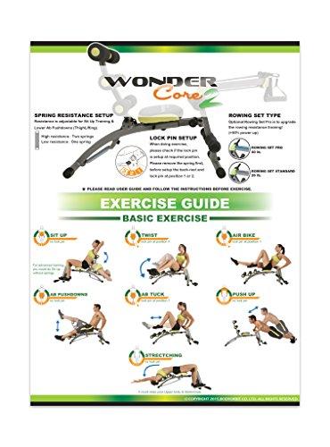 Wonder Core 2 Unisexe Avec Construit en torsion siège et rameur
