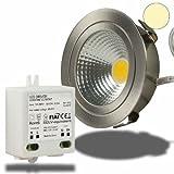 Isolicht LED Möbel-Einbaustrahler COB mit Reflektor, 3W, nickel geb., war