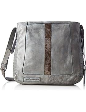 Taschendieb Damen Td0067g Umhängetasche, Grau (Grau), 9x30x31,5 cm
