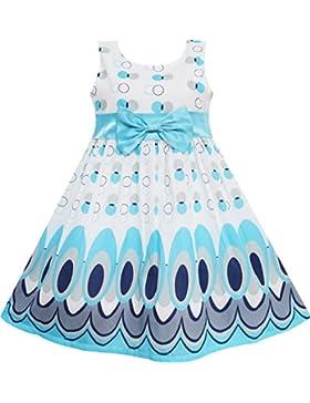 Sunny Fashion - Vestido lunares para niña azul