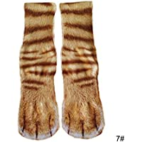 LiféUP Calcetines 3D, 1 par de Adultos Hombres y Mujeres Animales Pata Calcetines, elástico Transpirable 3D Impreso Largo pie pezuña Media calcetín de Tubo
