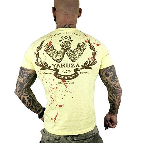 Yakuza Original Herren Killed By Fame T-Shirt Pale Banana