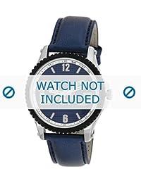 Dolce & Gabbana correa de reloj DW0709 Cuero Azul 20mm + costura azul(Sólo reloj correa - RELOJ NO INCLUIDO!)