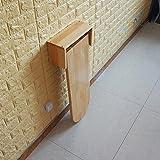 ZCJB Wandbehang Klapptisch Holz Farbe Massivholz Bar Tisch Esstisch Haushalt Einfache Moderne Einfache Mini Computer Schreibtisch Stealth Wand Montiert (Farbe : 80 * 60cm)