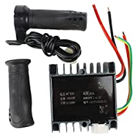 Bnineteenteam Motor Brushed Controller Box with Throttle Grip for Electric Scooter Tricycle(48-60V 1500W)