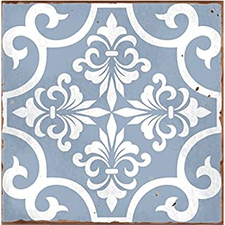 LPS Pack of 10 STYLE 6 Blue Victorian Moroccan retro traditional aged style Mosaic style tile transfers stickers bathroom kitchen stick on wall tile peel and stick