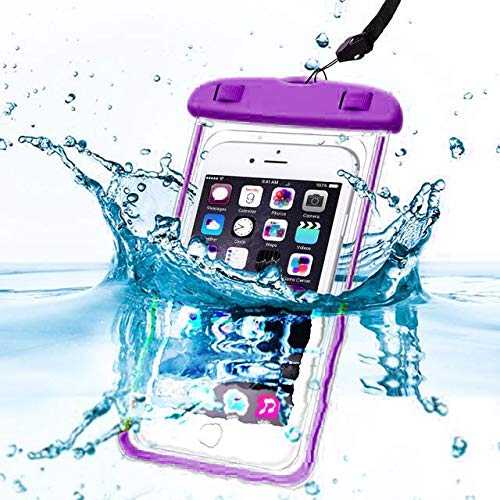 ichtes, wasserdichtes, wasserdichtes IPX8-Geld-Passport-Mobiltelefon-Handy-Etui Trockenbeutel mit langem elastischem Lanyard für LG LS7 4G LTE ()