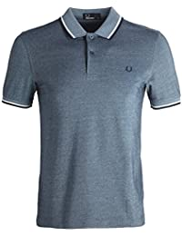 Fred Perry Hommes double pointe chemise polo m3600 Carbone