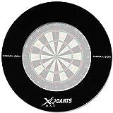 Surround Ring für Dartboards mit Farbauswahl - Dartscheiben Umrandung - Dart Auffangring (Schwarz)