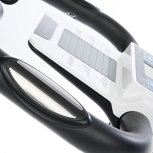 skandika Foldaway X-2000 Fitnessbike zusammenklappbar mit Bluetooth, Tablet Halterung, Rückenlehne, Multifunktionscomputer, Handpulssensoren und 16-stufiger, computergesteuerter Widerstand - 6