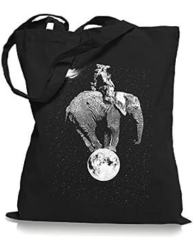 Space Elephant Stoffbeutel   Astronaut Tragetasche Mond All