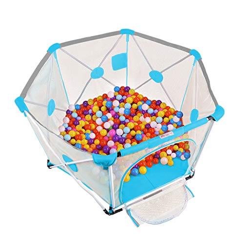 XXY Kleinkind Zaun Kinder Indoor Spiel Zaun Safe Home Folding Marine Ball Pool Große Raumhöhe Hoch Faltbar Ohne Installation Einfach Zu Tragen (Color : Blue, Size : 150 * 150 * 82.5) (Pool-installation)