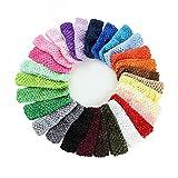 Primi 24pcs hermoso bebé niñas elástica Crochet pelo bandas diademas