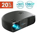 Elephas HD-Projektor, LED, 720p, 3300 lm, unterstützt 1080p HDMI, USB, VGA, ideal für Bür, Zuhause, Heimkino, Unterhaltung, Videospiele, Party