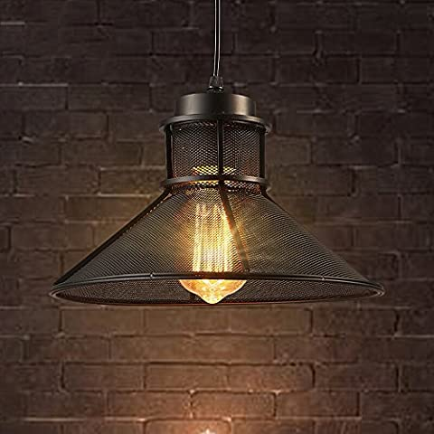 Nordic retro nostalgia chandelier E27 Light Source High quality Iron Craft Lampshade American Creative Restaurant Lights Coffee Shop Bar Personalized Single-Head Iron Art Chandelier Chain: 43.31 Inches 110V - 240V