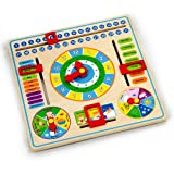 Viga Wooden Calender Clock - Childrens Educational Learning Toy