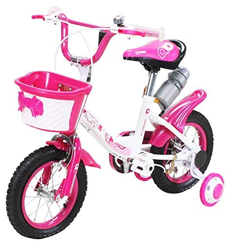 Actionbikes Kinderfahrrad Daisy - 12 Zoll - V-Break Bremse vorne - Stützräder - Luftbereifung - Ab 2-5 Jahren - Jungen & Mädchen - Kinder Fahrrad - Laufrad - BMX - Kinderrad (12`Zoll)