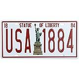 Bluelover Estatua de la libertad matrícula lata signo Vintage Metal placa cartel Bar Pub casa decoración de la pared