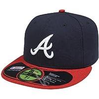 New Era 59FIFTY MLB - Cappello degli Atlanta Braves, multicolore (Blu marino/Rosso), 7 1/8