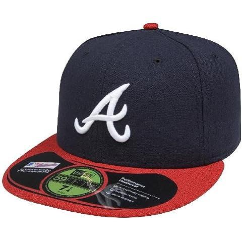 New Era 59FIFTY MLB - Cappello degli Atlanta Braves, multicolore (Blu marino/Rosso), 7 1/4