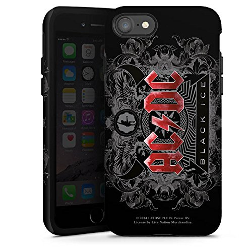 Apple iPhone 4 Hülle Case Handyhülle ACDC Merchandise Fanartikel black ice Tough Case glänzend