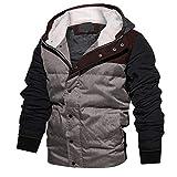 Mantel Sunnyadrain Herren Jacke Hoodie V-Neck Patchwork Reine Farbe Plus Größe Reißverschluss Geschäft Pullover Winter Warm Sweatshirt Top Langarm