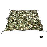 Zhuhaimei,Woodland Military Car Cover Caza Tienda de campaña Camuflaje Net(Color:Camuflaje,Size:2 X 3M)