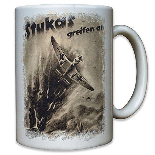 Stukas greifen an Luftwaffe Ju 87 Sturzkampfflieger Flugzeug WK 2 - Tasse Becher Kaffee #10219 t