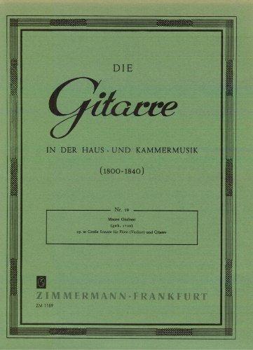 Große Sonate für Flöte (Violine) und Gitarre Opus 85 (Zwei Stimmen) - Grand Flöte