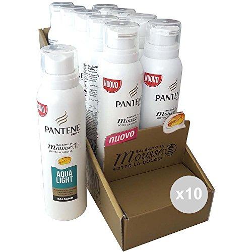 Haarpflege-mousse (Pantene Mousse Aqua Light ml 140 Haarpflege, Mehrfarbig, 10 Stück)
