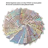288pcs Nagel-Aufkleber, ZYDTrip 24 Blatt-Spitzen-Nagel-Kunst-Aufkleber 96 entwirft DIY Kunst-Nagel-Maniküre-Werkzeug