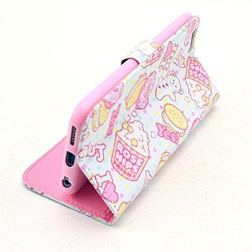 Aeontop 4 en 1 Custodia in pelle Protettiva Cuoio Portafoglio Flip Cover per Apple iPhone 6 4.7 con chiusura magnetica e funzione di supporto , Pellicola di Protezione e dello stilo Incluse , Modello modello 07