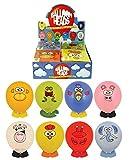Globos Fiesta Globo animal divertido placa frontal cabezas con pegatinas y animal pies relleno piñata pack de 8