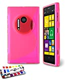 MUZZANO Original S-Cover Flessibile, per Nokia Lumia 1020, Colore: Rosa