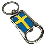 Duke Geschenke Schweden Flagge Metall Flaschenöffner Schlüsselring 203