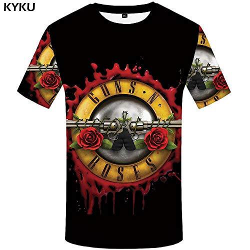 KYKU Guns N Roses Tshirt Inhumans Hemden Tees Kleidung Shirts Tops Männer Lustige T-Shirt 3D Male beiläufige Neue