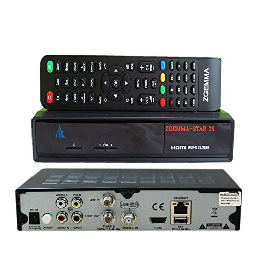 ZGEMMA-STAR 2S with DVB-S2+DVB-S2 Twin Tuner Satellite Receiver E2 Linux FTA