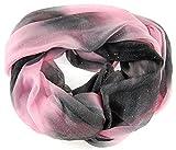NB24 Versand Damen Loop Schal (a 627), lila grau schwarz, mit Pailletten, Damenmode, Endlosschal, doppellagig, Schlauchschal, Damenbekleidung, Damenschal, Tuch