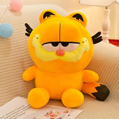 yfkgh Plüschtiere, süße Garfield, Puppe kleine Puppe, Kaffee Katze Puppe, Cartoon Kissen, Geburtstagsgeschenk weiblich@Orange_25 cm (Geschenkbeutel mit Blume verschicken) -