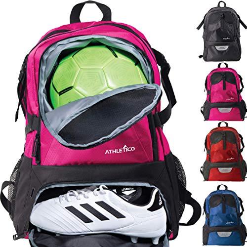 Athletico National Soccer Bag Rucksack Fur Fussball Basketball Fussball Inkl Separater Klampe Und Ballhalter Rose